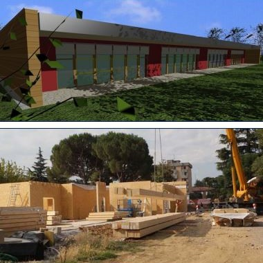 Nuovo edificio scolastico in legno Imola